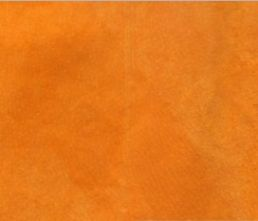 Tangerine Orange Velour Suede Leather Half Skin